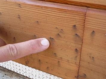 Černání dřeva vlivem kovových korozivních částic