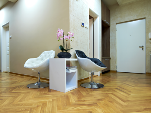 Oak solid parquet block flooring