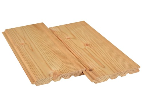 Siberian Larch V-joint cladding 19x146 mm