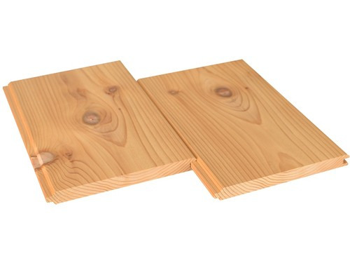 Western Red Cedar knotty V-Joint cladding 17x185 mm