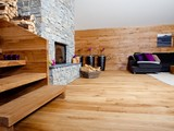 Oak solid board flooring Weiss