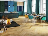 Barlinek Oak Caramel Herringbone, wooden flooring