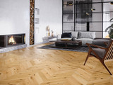 Oak Raisins Chevron, wooden flooring