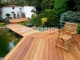 Garapa wooden decking
