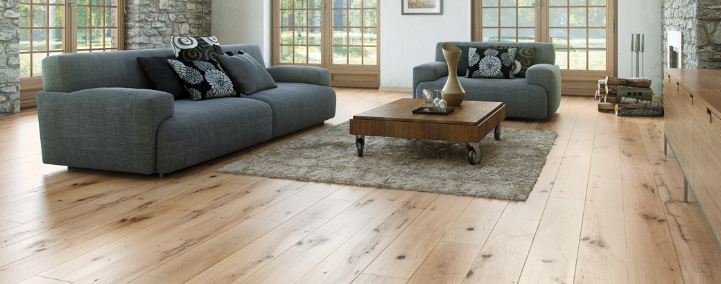 Wooden oak flooring